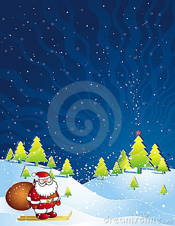 Free Christmas Card, Vector Stock Photo - 3616170