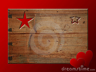 Christmas card wooden