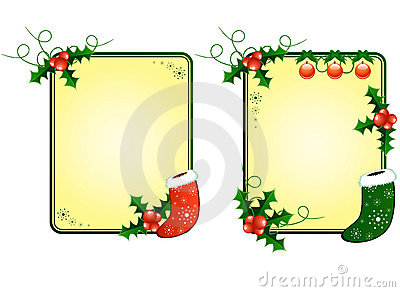 Christmas cards with berries and socks
