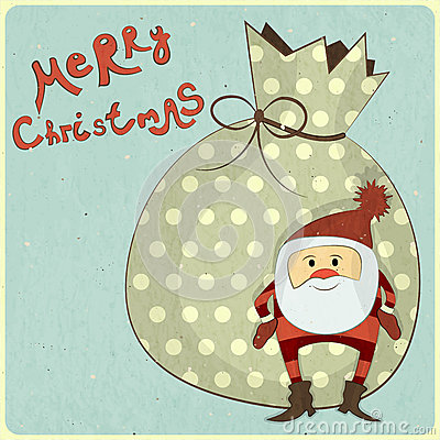 Christmas cards with cartoon Santa