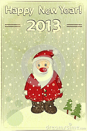 Christmas cards with Santa Claus