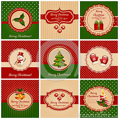Free Christmas Cards. Vector Illustration. Stock Photos - 35552803