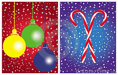 Christmas cards vector sets