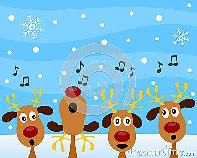 Christmas Carol with Reindeer