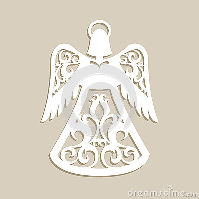 Free Christmas Carved Openwork Angel Stock Image - 81119221