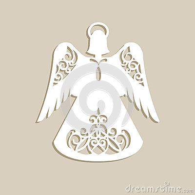 Free Christmas Carved Openwork Angel Stock Image - 81132941