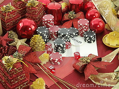 Christmas casino background
