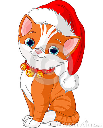 Free Christmas Cat Royalty Free Stock Images - 27524679