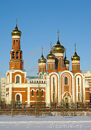 Christmas Cathedral.Omsk.Russia
