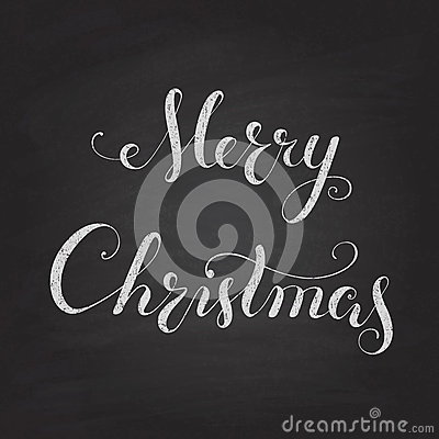Merry christmas chalkboard lettering stencils