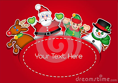 Christmas Characters template card