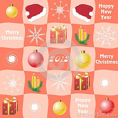 Christmas checkered  background