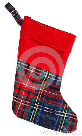 Christmas checkered stocking