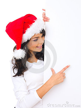 Christmas Chick With Board Stock Photos - Image: 6921163