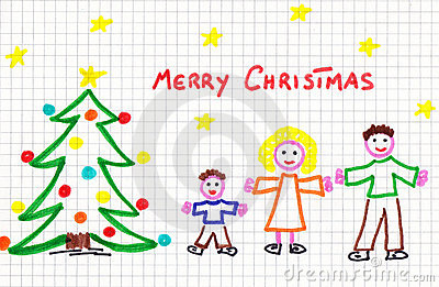 Christmas child draw