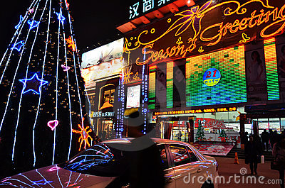 Christmas in china Editorial Photo