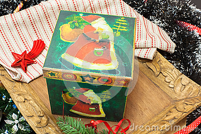 Christmas. Christmas Decoration and Box Holiday Decorations
