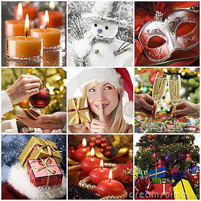 Free Christmas Collage Royalty Free Stock Images - 12139089