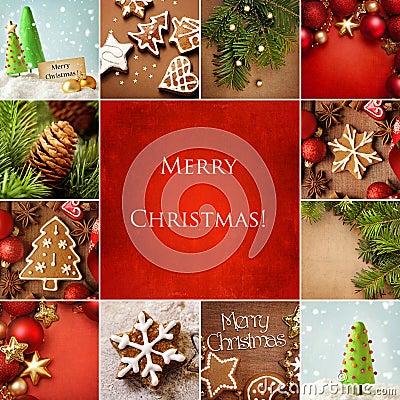 Free Christmas Collage Stock Photos - 34595873