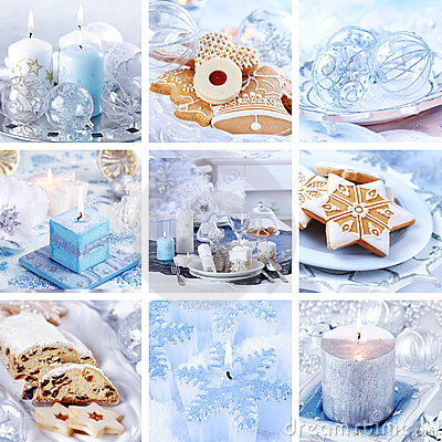 Free Christmas Collage In White Royalty Free Stock Photos - 22104918