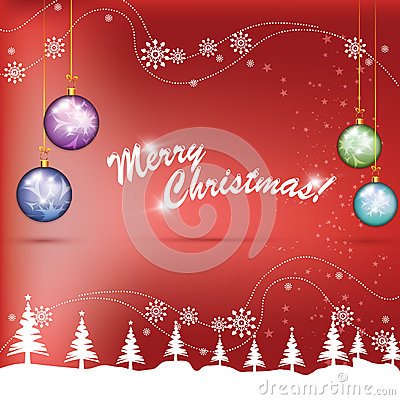 Free Christmas Colorful Globes Stock Photography - 26992692