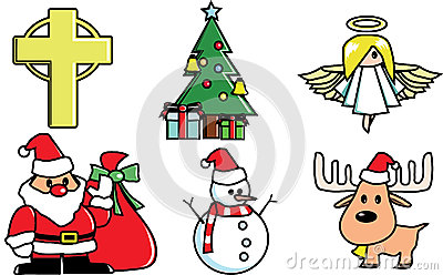 Christmas components vector
