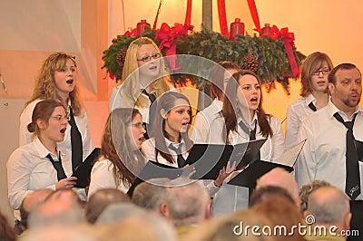 Christmas concert Editorial Stock Photo