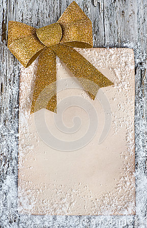 Christmas congratulation card with snow
