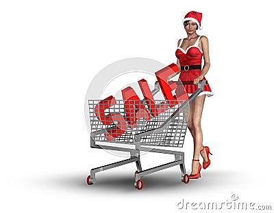 Christmas consumerism concept
