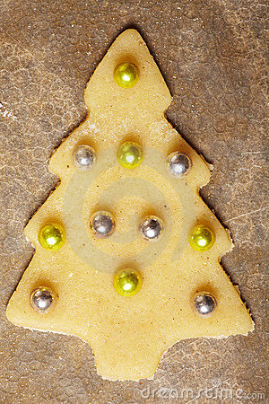 Christmas cookie with balls