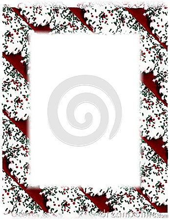 Christmas Cookie Border on White