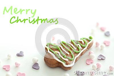 Christmas cookie closeup