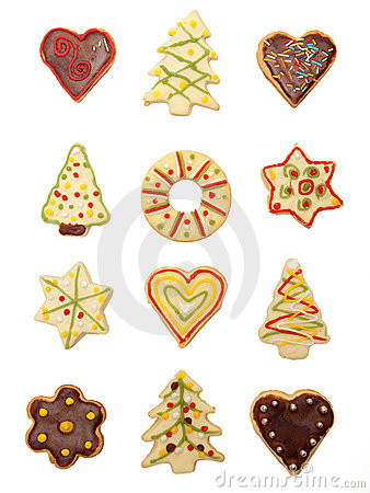 Free Christmas Cookies Royalty Free Stock Photography - 12353837