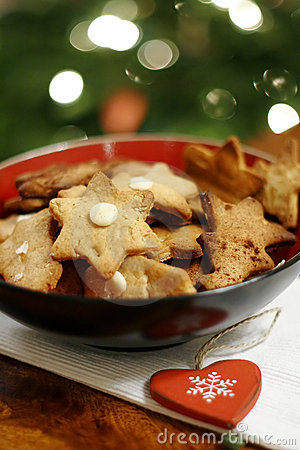 Free Christmas Cookies In Bowl Royalty Free Stock Photos - 3771108