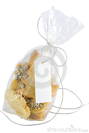 Christmas cookies  with label with copyspace