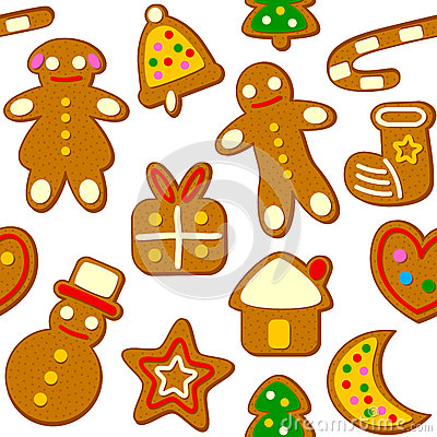 Christmas Cookies Seamless Pattern