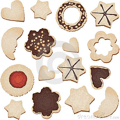 Christmas cookies seamless tile