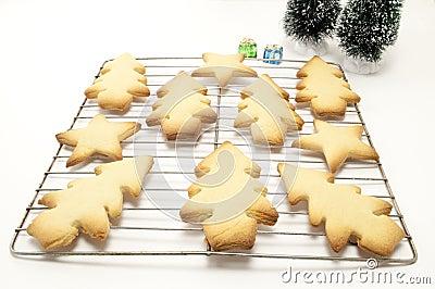 Christmas Cookies on a Wrack
