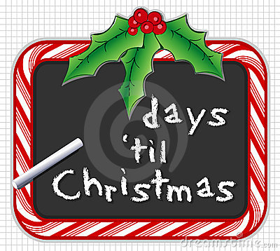 Christmas Countdown on Christmas Countdown Royalty Free Stock Images   Image  7271529