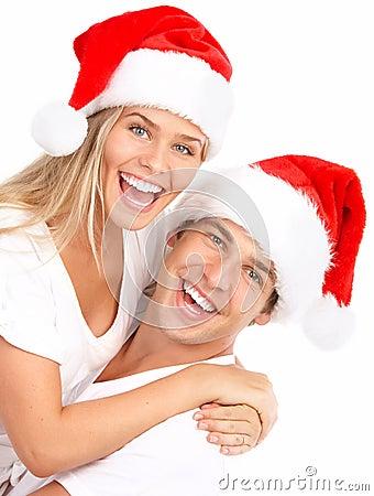 Free Christmas Couple Stock Photography - 15882282