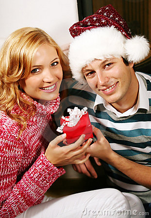Free Christmas Couple Stock Photos - 3238053