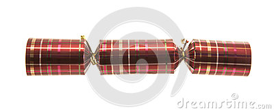 Christmas Cracker with tartan pattern