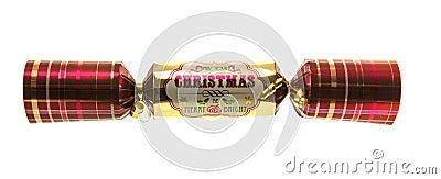Christmas Cracker with tartan pattern