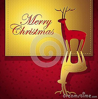 Christmas creative greeting card