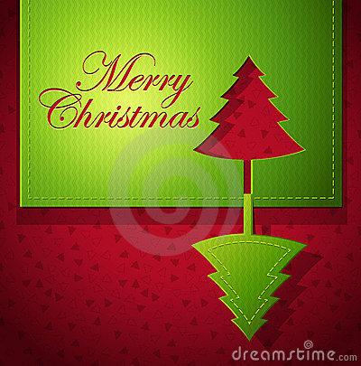 Christmas creative paper art - vector illustration