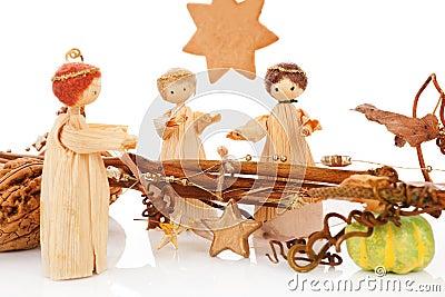 Christmas crib. The birth of Jesus.