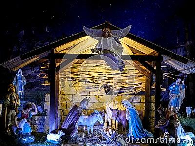 Christmas Crib Stock Photo Image 45948302