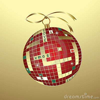 Christmas crossword bauble