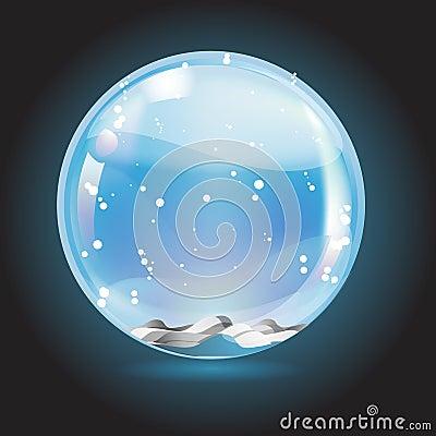 Christmas crystal snow ball