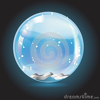 Christmas crystal snow ball